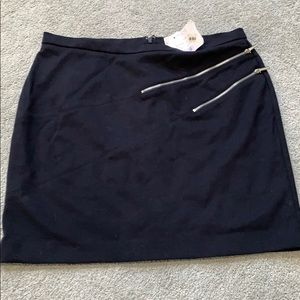 Size 14 Michael kors navy mini skirt